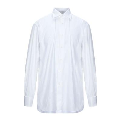 エルメネジルド ゼニア ERMENEGILDO ZEGNA シャツ ホワイト 42 コットン 100% シャツ