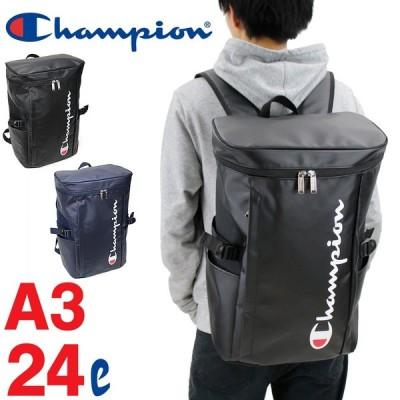 Champion(チャンピオン) バケット スクエアリュック デイパック リュックサック 24L A3 撥水 62486 メンズ レディース 男女兼用 ジュニア 送料無料