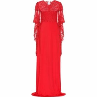 ヴェトモン Vetements レディース パーティードレス ワンピース・ドレス lace and jersey gown Red
