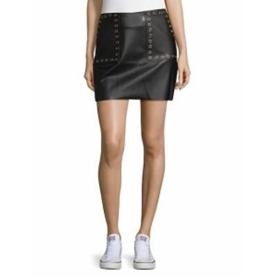 サプライ&デマンド レディース スカート Grommet Faux Leather Mini Skirt