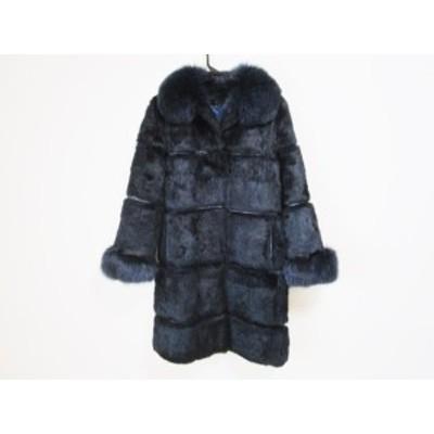 リトルニューヨーク LittleNewYork コート サイズ4 XL レディース - 黒 長袖/フォックス/冬【中古】20201028