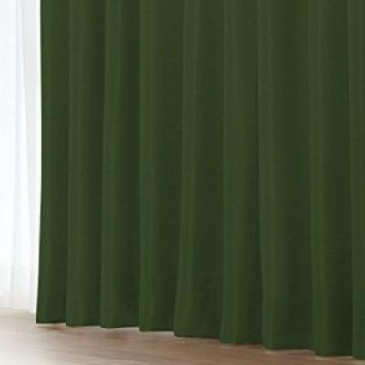 (窓美人) 1級遮光 (アラカルト) カーテン 片開き 1枚 + カーテンフック取り付け済み + カーテンタッセル リーフグリーン 幅150×丈135cm
