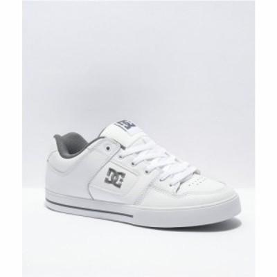 ディーシー DC メンズ スケートボード シューズ・靴 Pure White and Battleship Skate Shoes White
