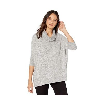 AGB Women's Cowl Neck Pullover Sweater, Heather Gray, Extra Large並行輸入品 送料無料
