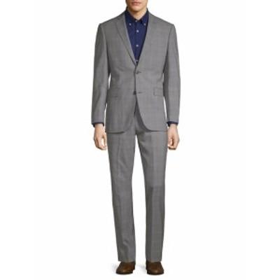 サックスフィフスアベニュー Men Clothing Plaid Wool Suit