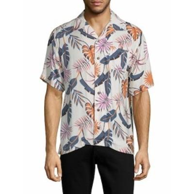 スタンダード イシュー NYC メンズ カジュアル ボタンダウンシャツ Printed Button-Down Shirt