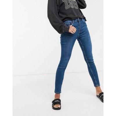 ベルシュカ レディース デニムパンツ ボトムス Bershka super skinny 5 pocket jeans in dark blue