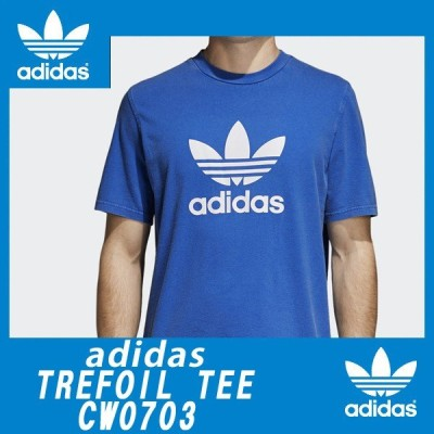 半袖Tシャツadidas Originalsアディダスオリジナルス正規品トリフォイルTREFOIL TEE TEEシャツ ブルー