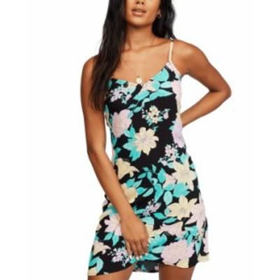ビラボン レディース ワンピース トップス Women's Blooming Mini Slip Dress Black Multi