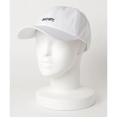帽子 キャップ 【BUCKET/バケット】ロゴテープベルトキャップ ブランドロゴ 刺繍