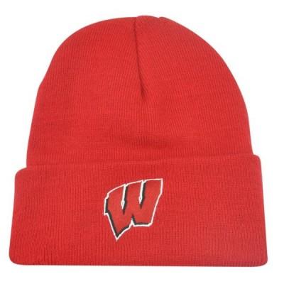ユニセックス スポーツリーグ アメリカ大学スポーツ NCAA Wisconsin Badgers Cuffed Dusy Winter Thick Knit Beanie Hat Toque Skully
