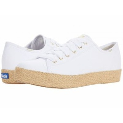 Keds ケッズ レディース 女性用 シューズ 靴 スニーカー 運動靴 Triple Kick Jute Organic Canvas Brilliant White【送料無料】