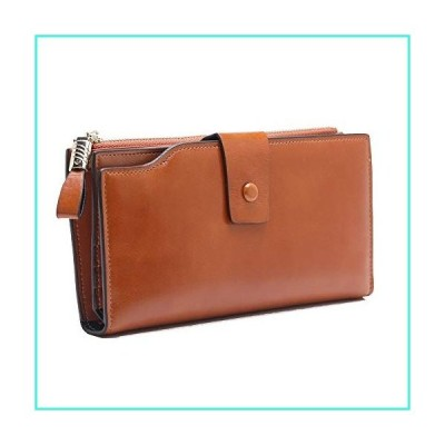 【新品】SHUAINIU Women's RFID Blocking Wallet Soft Leather Clutch Money Ladies Purse Slim Card Holder Organizer Zip Pocket(並行輸入品)