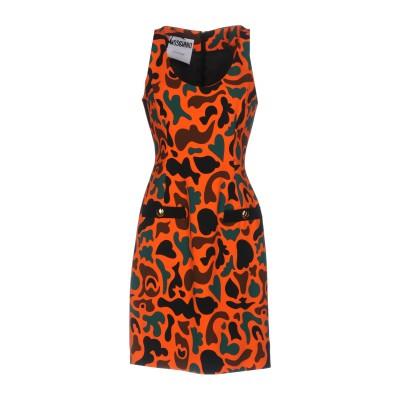 モスキーノ MOSCHINO ミニワンピース&ドレス オレンジ 44 レーヨン 100% ミニワンピース&ドレス