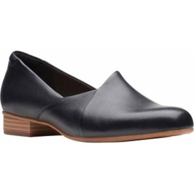 クラークス レディース スリッポン・ローファー シューズ Women's Clarks Juliet Palm Loafer Black Leather