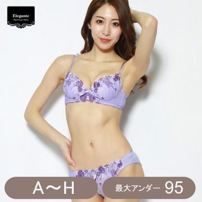 花柄シフォンブラ&ショーツセット(エレガンテ/Elegante)