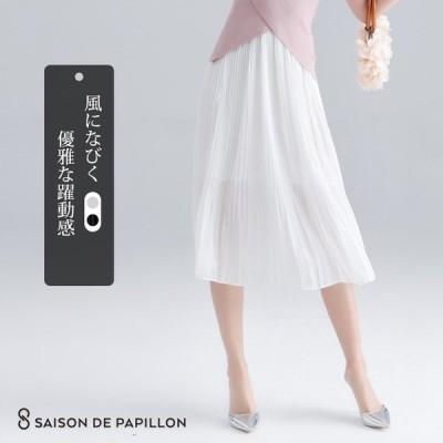 【福袋対象】スカート シフォン プリーツ シフォンスカートプリーツスカート ミモレ丈 膝下丈 ウエストゴム ポリエステル