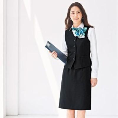 オフィスベストスカートスーツ(洗濯機OK、静電防止)(事務服) 7AR61 9AR64 11AR67 13AR70 13ABR76 2182-296629