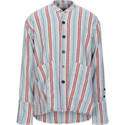 グレッグ ローレン GREG LAUREN メンズ シャツ トップス striped shirt Sky blue