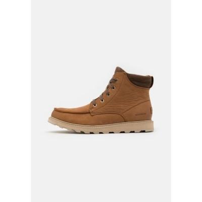 ソレル ブーツ&レインブーツ メンズ シューズ MADSON II MOC TOE WP - Lace-up ankle boots - velvet tan
