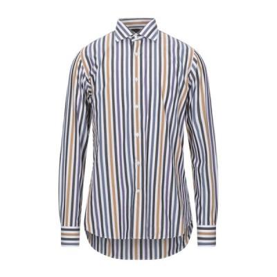 CAMICERIA PALAZZO MALATESTA ストライプ柄シャツ  メンズファッション  トップス  シャツ、カジュアルシャツ  長袖 ホワイト