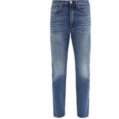 トーテム Toteme レディース ジーンズ・デニム クロップド ボトムス・パンツ Studio cropped straight-leg jeans Blue