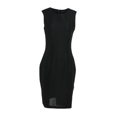 ピンコ PINKO ミニワンピース&ドレス ブラック L コットン 100% ミニワンピース&ドレス