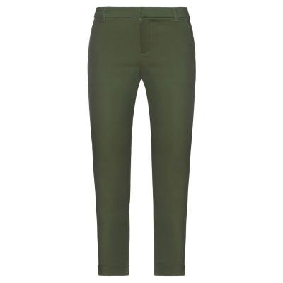 VANESSA SCOTT パンツ ダークグリーン S コットン 65% / ナイロン 32% / ポリウレタン 3% パンツ