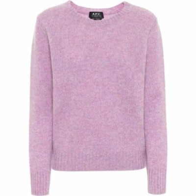 アーペーセー A.P.C. レディース ニット・セーター トップス Leonie Wool Sweater Mauve Chine