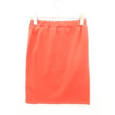 ベーシックタイトスカート 赤 レディース 新品 XS