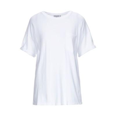フレームデニム FRAME T シャツ ホワイト XS スーピマ® 100% T シャツ