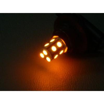 LEDバルブ3157・T25型13SMD・ウェッジ/ダブル球アンバー(オレンジ)