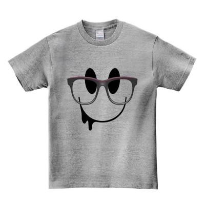 【めがねのスマイルマーク】メンズ 半袖 Tシャツ