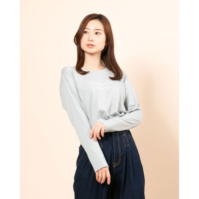 コムサイズム COMME CA ISM メッセージTシャツ (ミント)