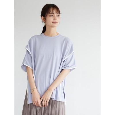 アームスリットポンチョTシャツ