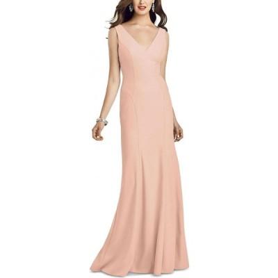 ディシーコレクション Dessy Collection レディース パーティードレス Vネック ワンピース・ドレス V-Neck Open-Back Gown Porcelain Pink