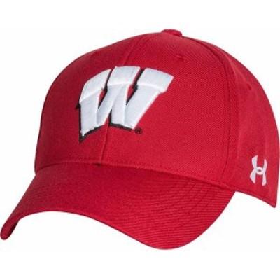 アンダーアーマー メンズ 帽子 アクセサリー Under Armour Men's Wisconsin Badgers Red Adjustable Hat