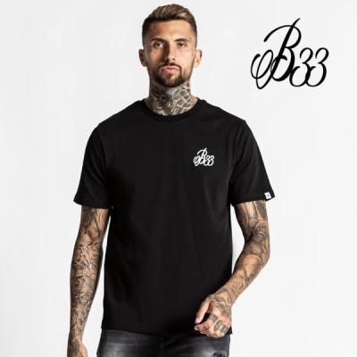 Bee Inspired Clothing ビーインスパイアード Premium Cotton B33 Tee - Black ブラック 半袖 Tシャツ メンズ 筋トレ ジム ウエア スポーツウェア フィジーク 正