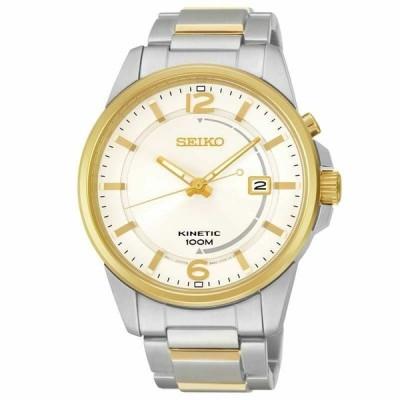 腕時計 セイコー メンズ  Seiko Men's SKA672 Gent's Two Tone Steel Silver Dial Kinetic Watch