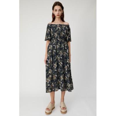 【マウジー】 OFF SHOULDER FLOWER ドレス レディース 柄NVY5 1 MOUSSY