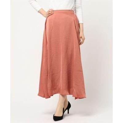 スカート フレアマキシ丈スカート