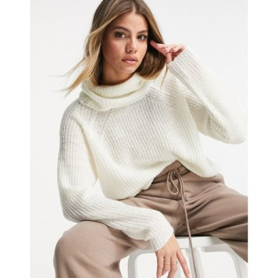 ブレーブソウル レディース ニット・セーター アウター Brave Soul harribo roll neck sweater in cream