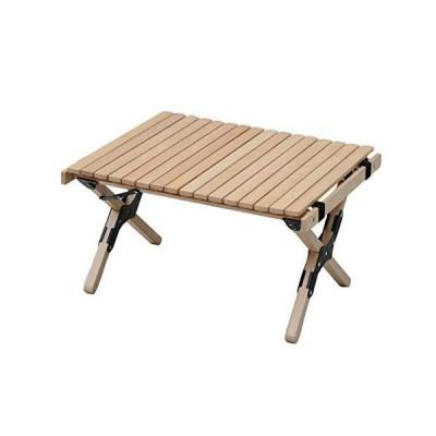 山善 キャンパーズコレクション ナチュラルロールトップテーブル WFT-6045 ベージュ 本体サイズ:幅64×奥行45×高さ35cm