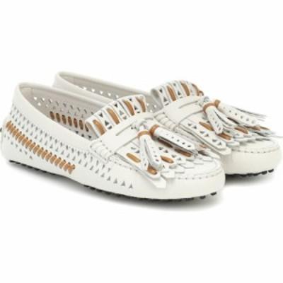 トッズ Tods レディース ローファー・オックスフォード シューズ・靴 Gommino leather loafers Bianco Calce