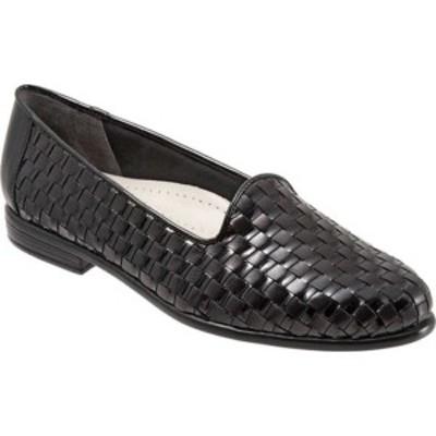 トロッターズ レディース オックスフォード シューズ Liz Black Leather/Black Patent