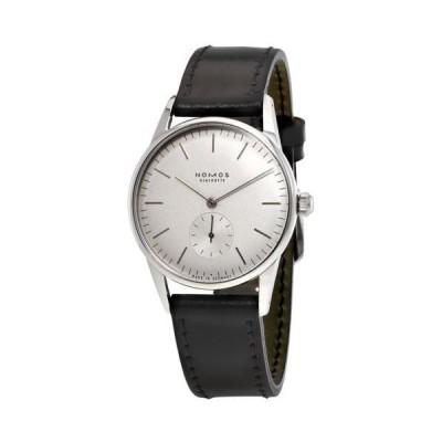 腕時計 ノモス Nomos Orion Wei?  ホワイト ダイヤル ブラック レザー ユニセックス 腕時計 306