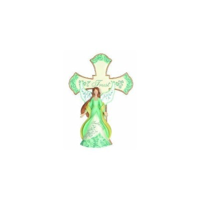 Precious Moments Trust Angel Cross with Easel Figurine
