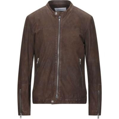 ブリー BULLY メンズ レザージャケット アウター leather jacket Brown