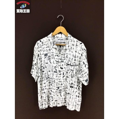 FUCKING AWESOME Dictionary Cabana Shirt 総柄 S S シャツ (L)