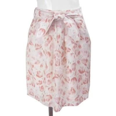 プライドグライド  ピンク 花柄 スカート 36